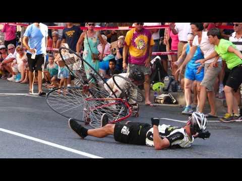 High Wheel Bike Crash Frederick Maryland In 4k UHD