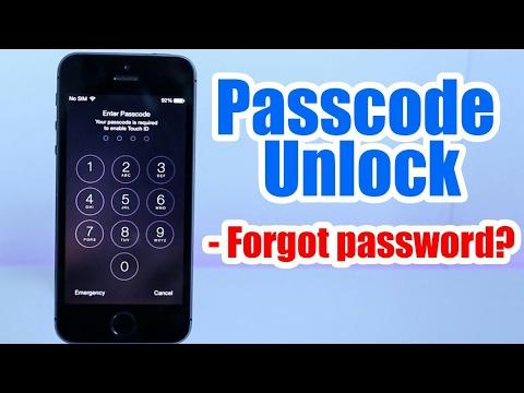 forgotten password iphone 5