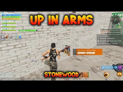 UP IN ARMS - Fortnite Save the World - Collect Machine Parts