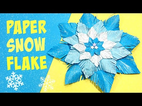 Christmas crafts: Paper snow flake.