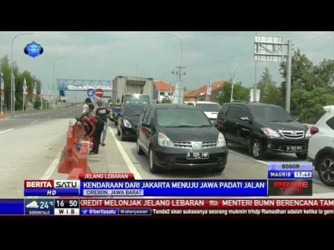 Simpang Exit Tol Brebes Timur Didominasi Kendaraan Dari Jakarta Dan Jabar
