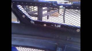 how to put grill mesh on front bumper.wmv