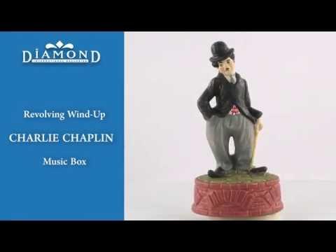 VINTAGE: Revolving Wind-Up CHARLIE CHAPLIN Music Box by Sankyo (1973)
