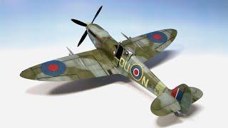 Supermarine Spitfire Mk.IXc Eduard 1/48 ww2 aircraft model - Part 2