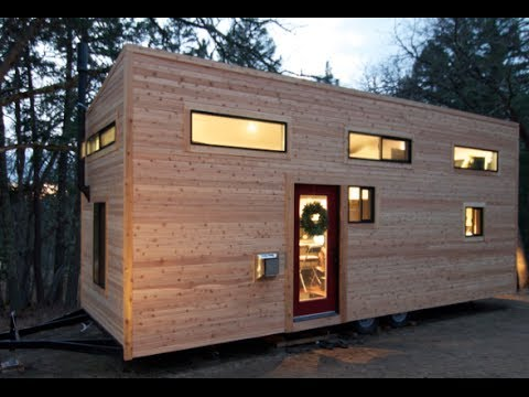 Tiny Modern House On Wheels couple builds own tiny house on wheels in 4 months for $22,744.06