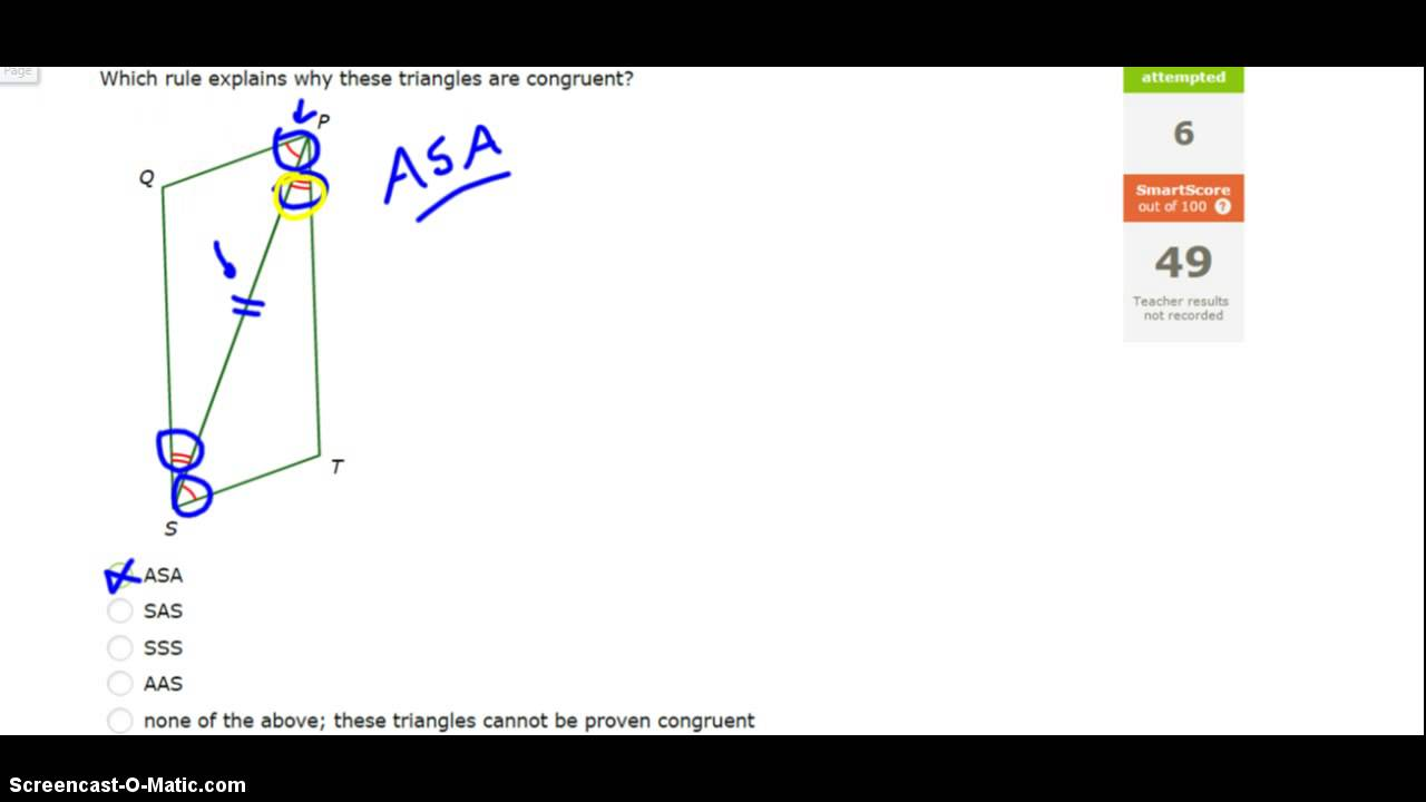 Triangle Congruence, Tier 1: Geometry IXL K.5 - YouTube