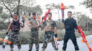 Nerf Guns War : Battleground Triple Police Patrol Of SEAL TEAM Attack Dangerous Enemies Group