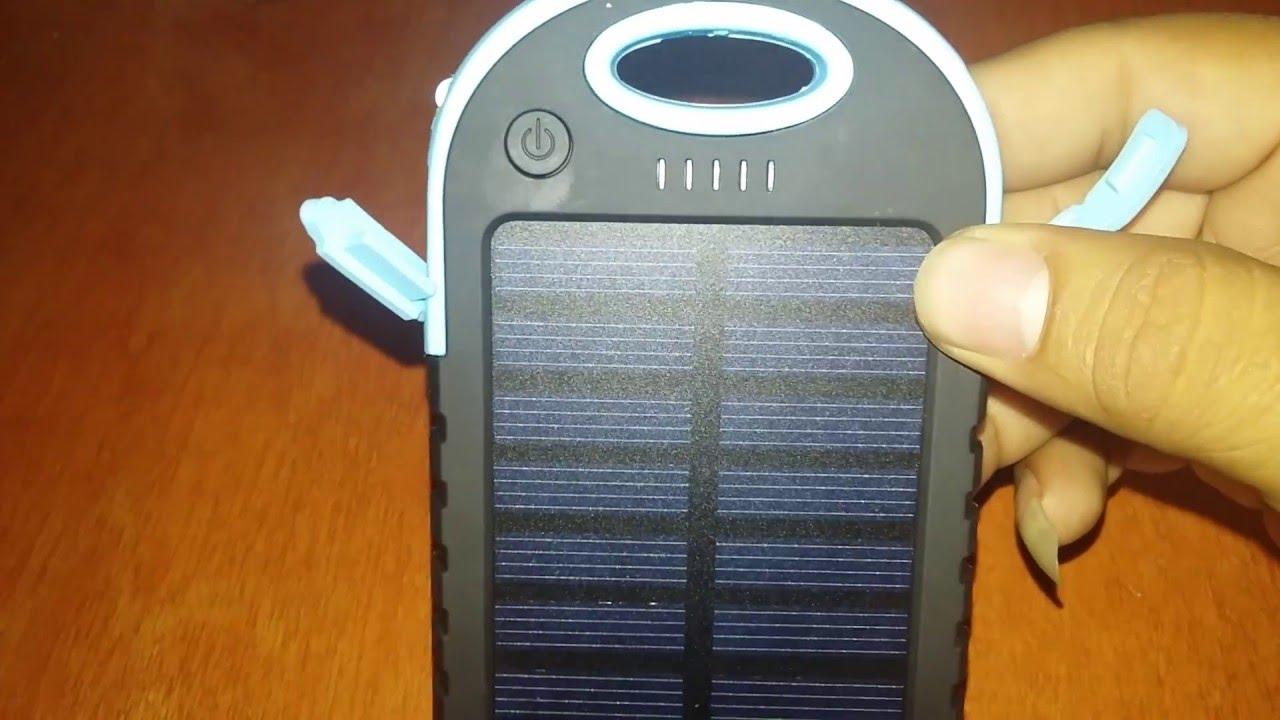 Cargador Solar Resistente Al Agua De Viaje Modelo Es500