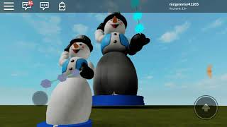 HUGE roblox spinning snowflake snowman (ft max the gemmy collector)