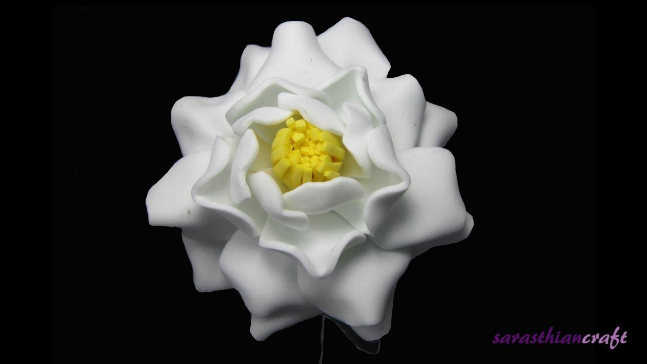 Diy Foam Flowers Gardenia Style 2 Youtube