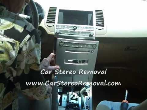 How To Nissan Maxima Car Radio Bose Stereo Removal And Repair Replace