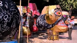 Effigies of demon king Ravana put out for sale
