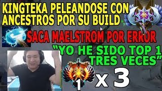 KINGTEKA ARMA POR ERROR MAELSTROM Y DISCUTE CON ANCESTROS POR SU BUILD