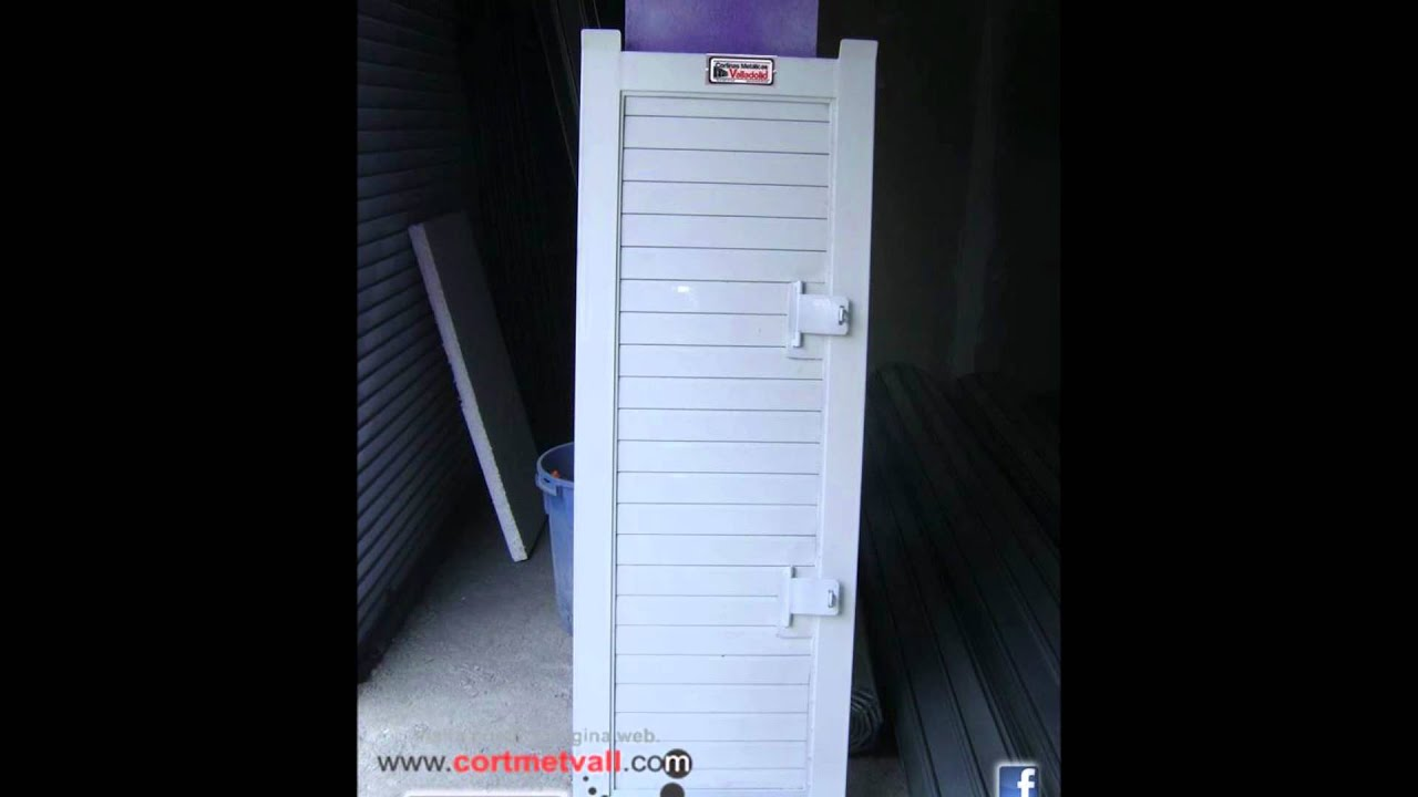 Puerta para Cortina Metlica Enrollable tipo Americana