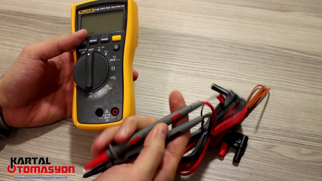 Fluke 116 Scaklk Ve Mikroamper Lme Zellikli Hvac Multimetre Digital Multimeter True Rms