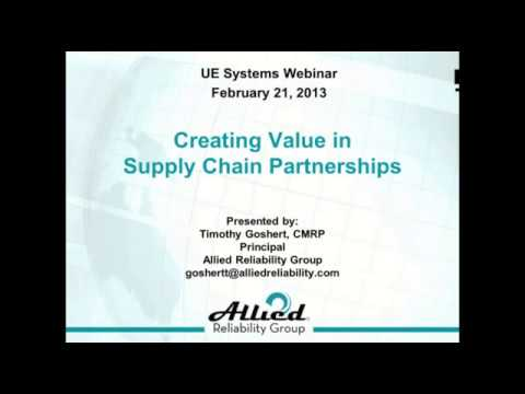 Creating Value in Supply Chain Partnerships