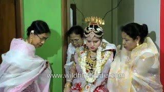 Manipuri bride gets warm welcome as she enters her new home