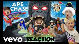 APE CHASE 🎵 (FGTEEV OFFICIAL MUSIC VIDEO) REACTION!