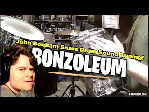 THE JOHN BONHAM SNARE DRUM SOUND TUNING - YouTube