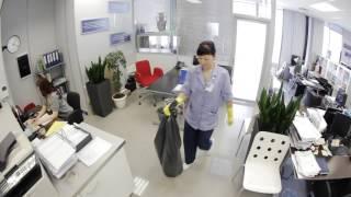 Смотреть видео уборка офисов