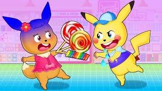 Pokemon Family 💖 Pikachu cartoon Funny story with pokemon babie 💖 Pikachu Toys TV (P4)
