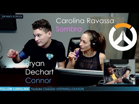 Playing Overwatch for FIRST TIME! Sombra & Connor Carolina Ravassa & Bryan Dechart