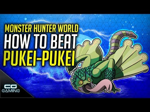 Monster Hunter World: How to Beat PukeiPukei | Guide & Tips | Solo  Insect Glaive