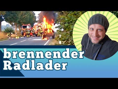 brennender Radlader -
