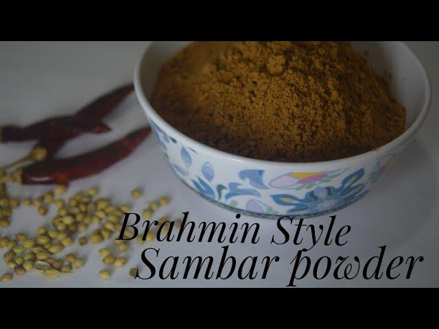 Easy 4  Ingredient Sambar Powder Recipe  Kerala style Sambar powder  Recipe No:25