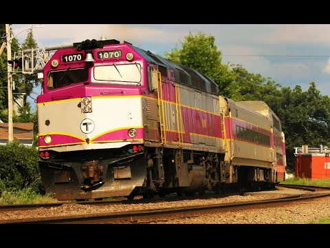 Veteran EMD GP40 Widecabs and F40PHs on the MBTA - MBTA Fitchburg Line Trains in 2018!