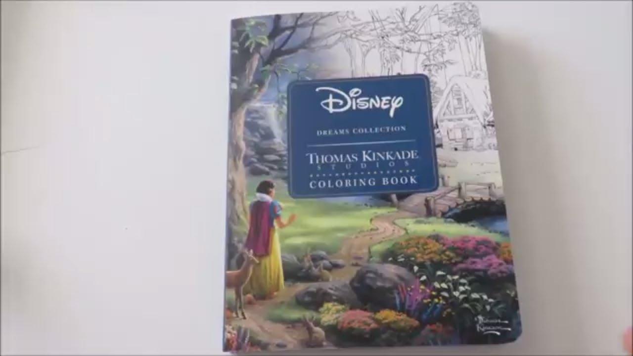 Disney Dreams Collection Thomas Kinkade Studios Coloring Book Youtube