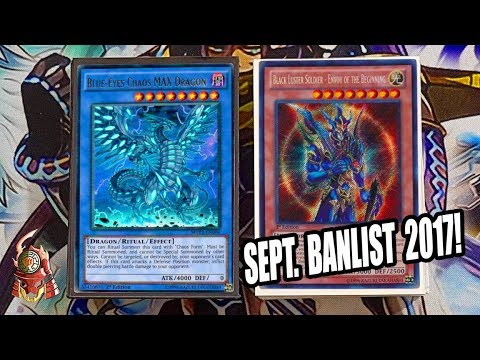 *YUGIOH* BEST! BLACK LUSTER SOLDIER DECK PROFILE FT. CHAOS MAX! SEPTEMBER 18th 2017 BANLIST! BROKEN!