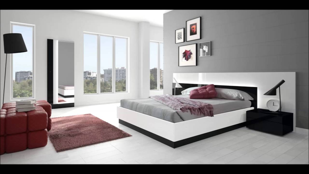 White grey bedroom design ideas for spacious bedroom for Interior design bedroom grey