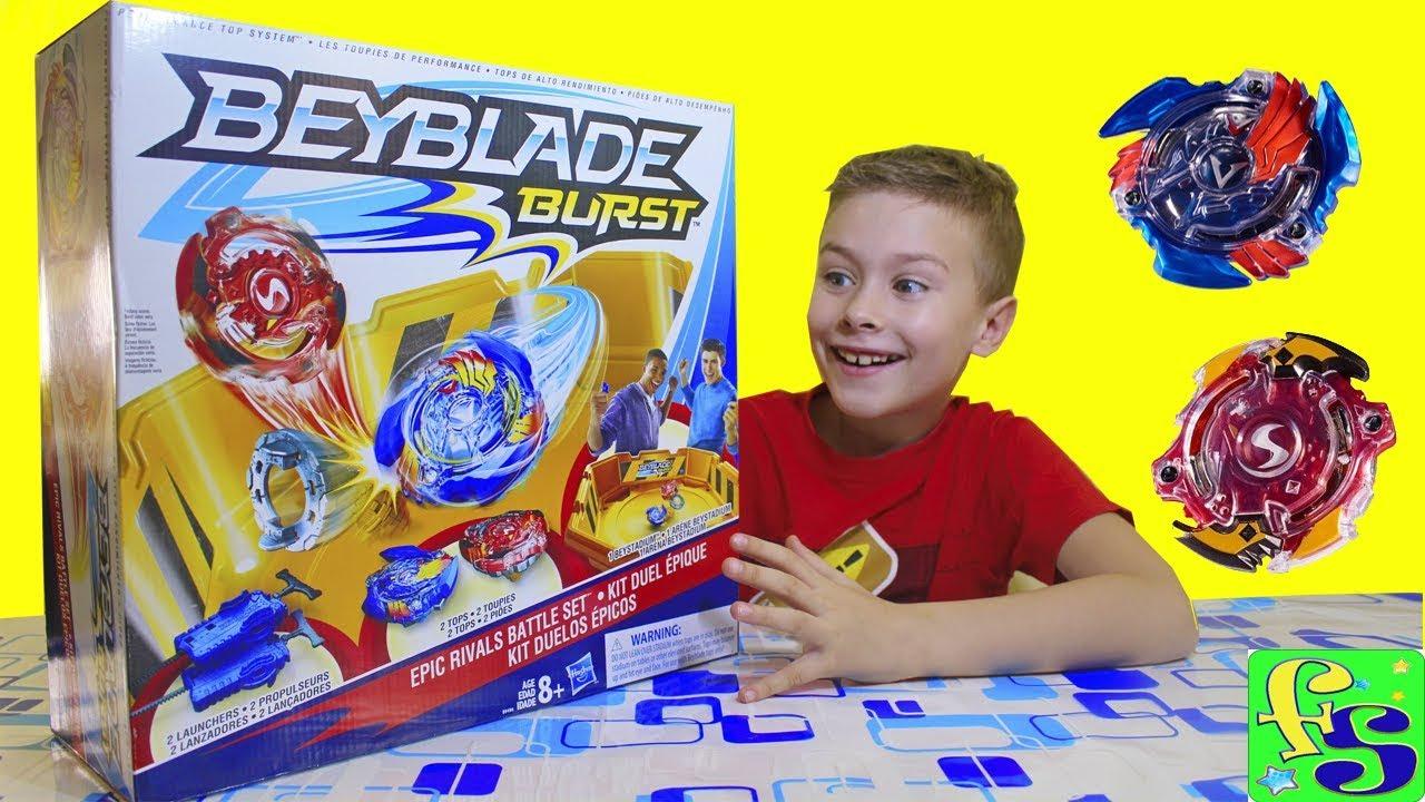 Бейблэйд Берст - НАБОР с ареной от Hasbro! Распаковка игрушки и волчков: Волтраек, Спрайзен