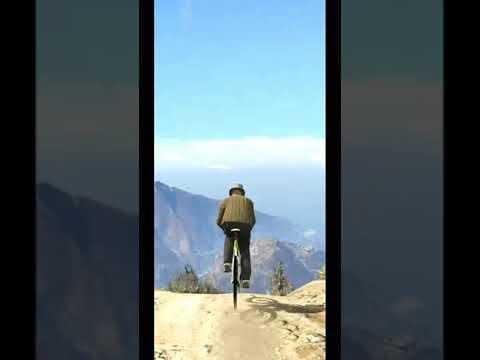 GTA 5 2 Vs 1 Bicycle Mountain Race - #shorts thumbnail