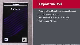 4 - How to Export Menu to USB Flash Drive (MXP/AXP)