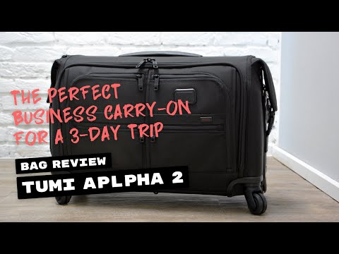 Review Tumi Alpha 2 Carry On Garment Bag 4 Wheels You
