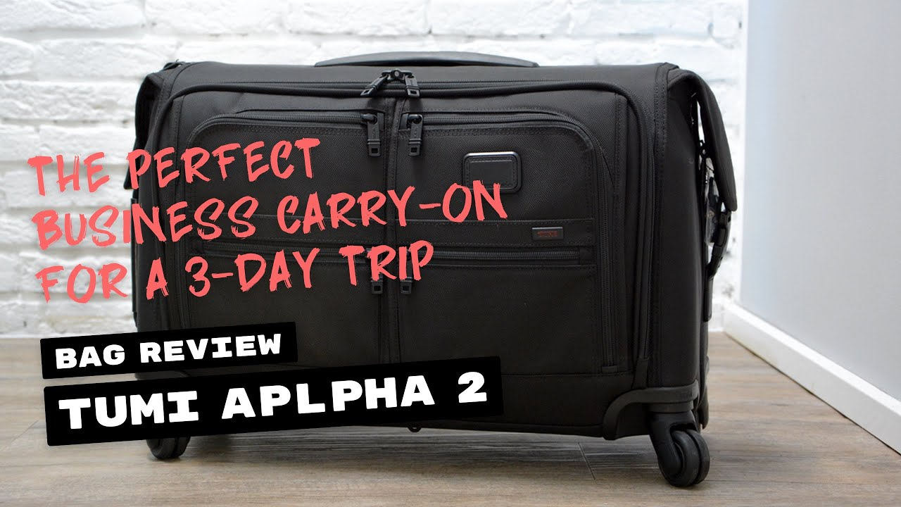 14a5f7b3291b Review  TUMI Alpha 2 Carry-On Garment Bag on 4 Wheels - YouTube