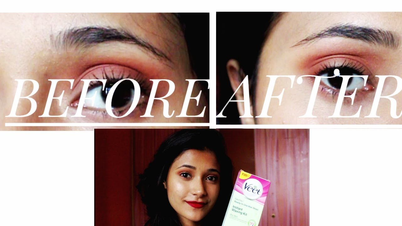 Trying Veet Wax Strip For Brow Waxing Themakeupbiome Youtube