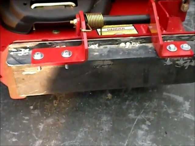 Lawn Aerator - Toro Z Master Block Off Plate Build