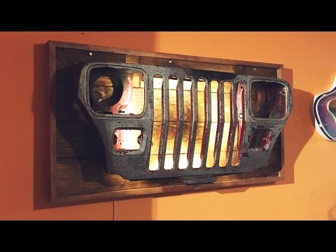 Thumbnail: Jeep Grille Wall Light - DIY