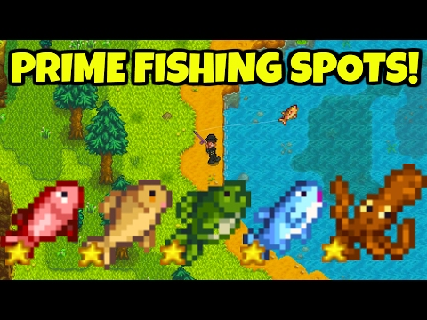 Best Fishing Locations + Fishing Tips! Stardew Valley