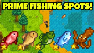🎣Best Fishing Locations + Fishing Tips! 🐟- Stardew Valley