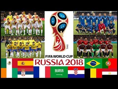 Tutte le 23 SQUADRE Qualificate ai MONDIALI di CALCIO RUSSIA 2018