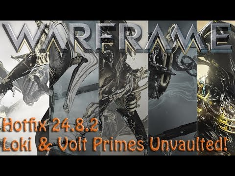 Warframe - Hotfix 24.8.2 The Prime Vault has opened once again! thumbnail
