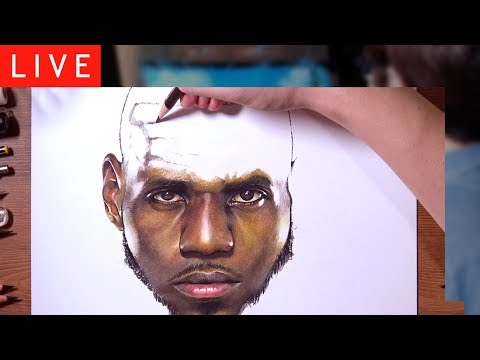 drawholic LIVE - Drawing LeBron James