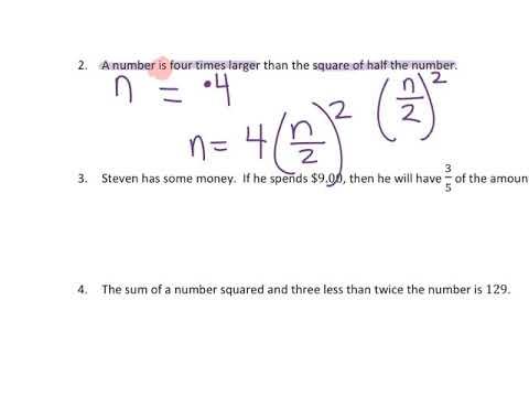 Sts Math 841 Writing Equations Using Symbols Youtube