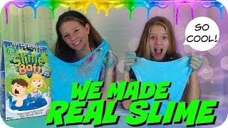 MAKING SLIME WITH SLIME BAFF TUTORIAL || WILL IT SLIME CHALLENGE || Taylor and Vanessa
