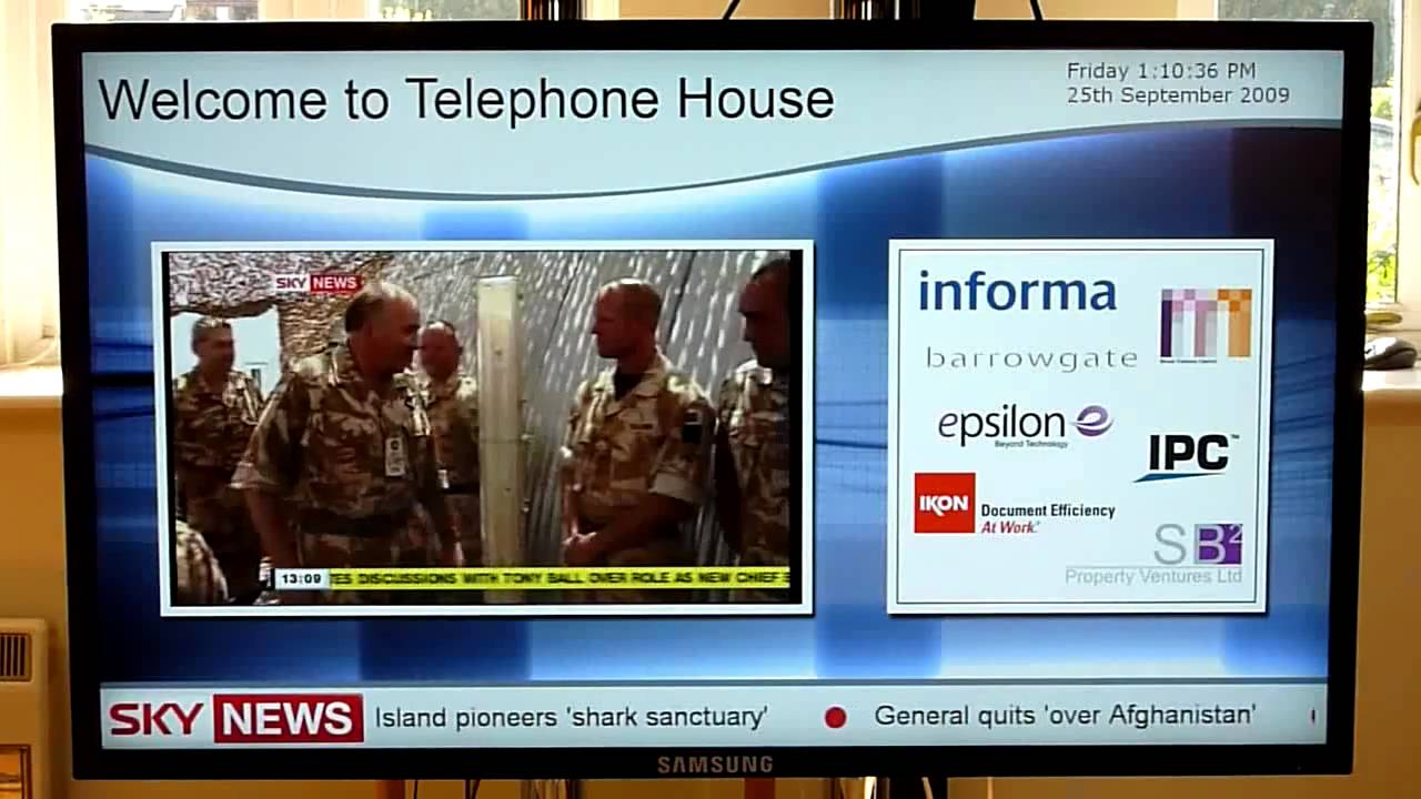 Digital Signage and Live TV