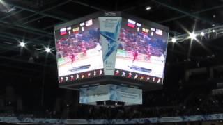 Ирина Нельсон на чемпионате мира по хоккею в Хельсинки